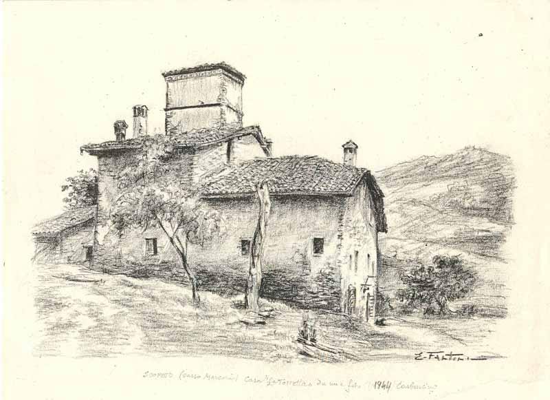 Enrico fantini i disegni delle case antiche antichi for Disegnare la pianta del piano di casa